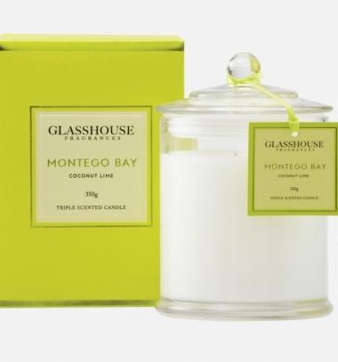 Glasshouse Montego Bay 350g Candle