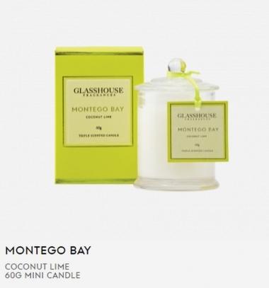 Glasshouse Montego Bay 60g Mini Candle